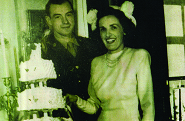 Wedding Day: Betty and Sandy Campbell in Maple Creek on December 10, 1947.